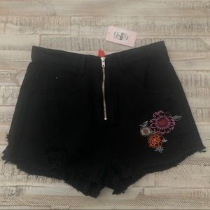 Chelsea and Violet Zip Front Jean Shorts